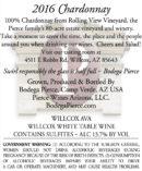 Chardonnay Arizona Wine