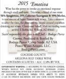 Arizona winery Emotiva red wine