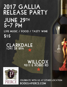 2017 Gallia Release Party @ Bodega Pierce Tasting Room | Clarkdale | Arizona | United States