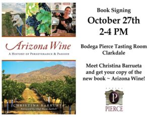 Arizona Wine ~ Book Signing with Cristina Barrueta @ Bodega Pierce Clarkdale | Clarkdale | Arizona | United States