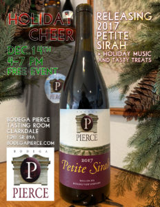 Holiday Cheer - Releasing the 2017 Petite Sirah @ Bodega Pierce Clarkdale | Clarkdale | Arizona | United States