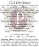 2014 chardonnay back label